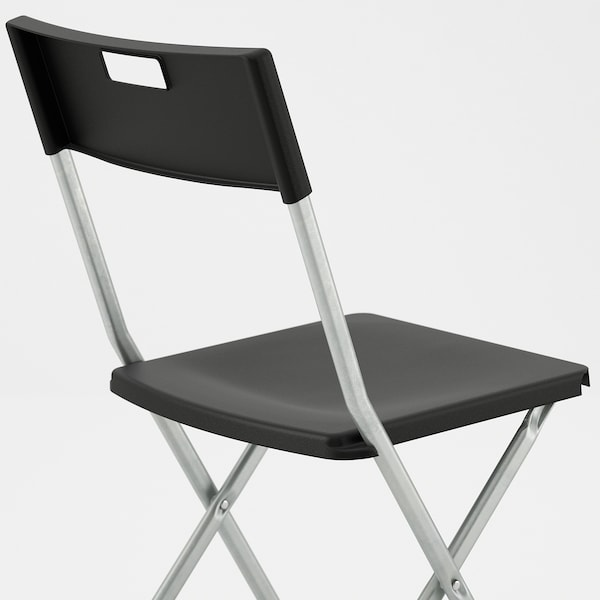 GUNDE Klappstol, svart