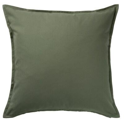 GURLI Kuddfodral, mörk olivgrön, 50x50 cm