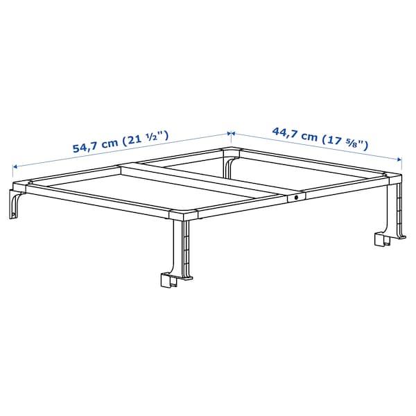 HÅLLBAR Stödram för källsorteringsbehållare, vit, 60 cm