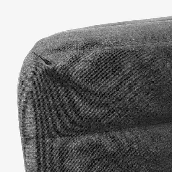 HAMMARN Bäddsoffa, Knisa mörkgrå/svart, 120 cm