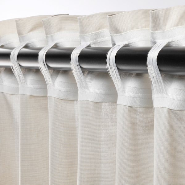 HANNALILL Gardiner, 1 par, beige, 145x250 cm