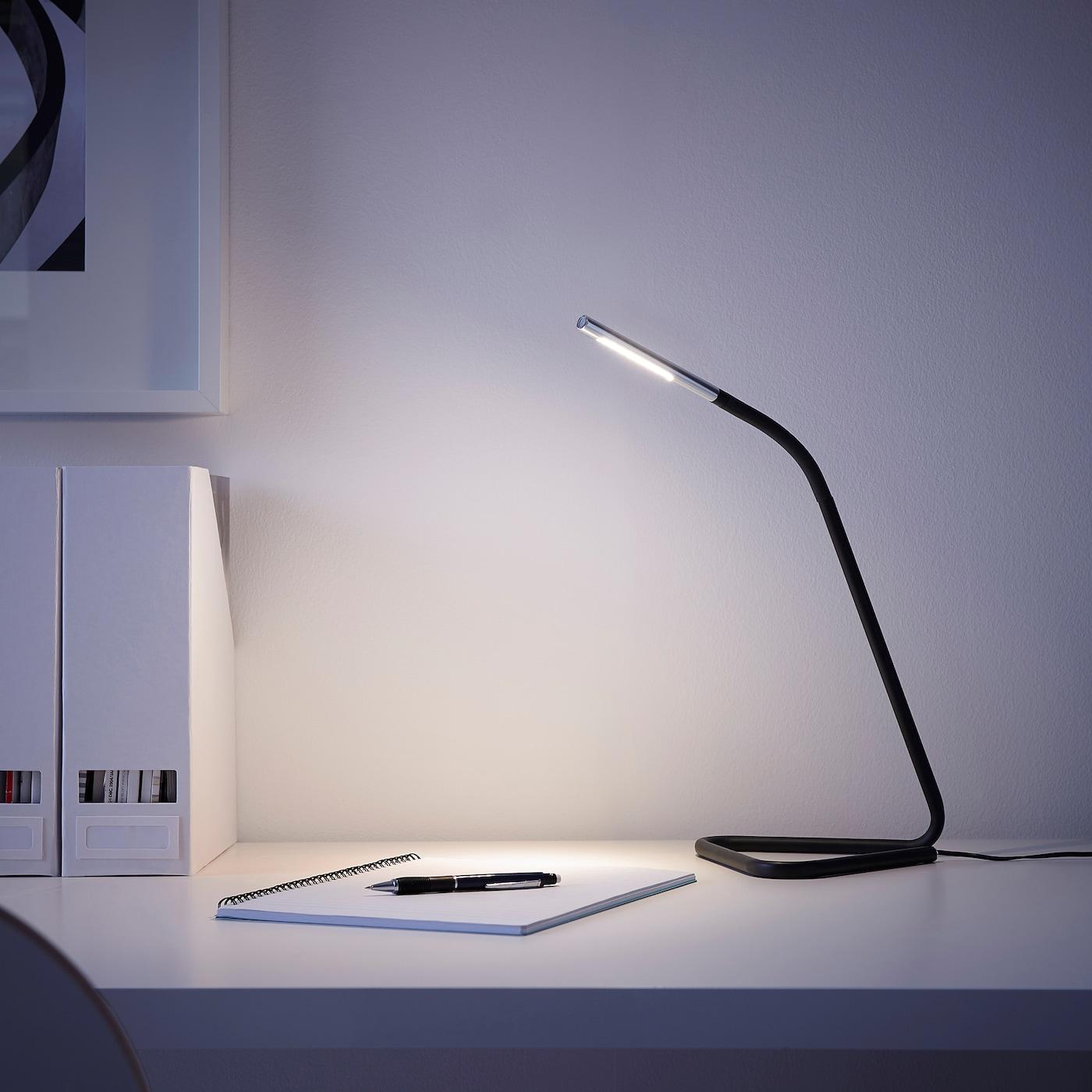 HÅRTE LED arbetslampa, svart, silverfärgad IKEA