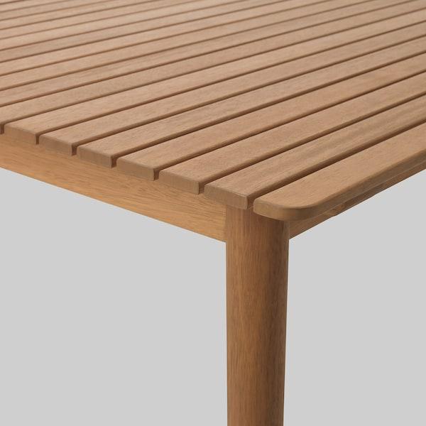 HATTHOLMEN utdragbart bord, utomhus eukalyptus/ljus ek 159 cm 211 cm 91 cm 75 cm