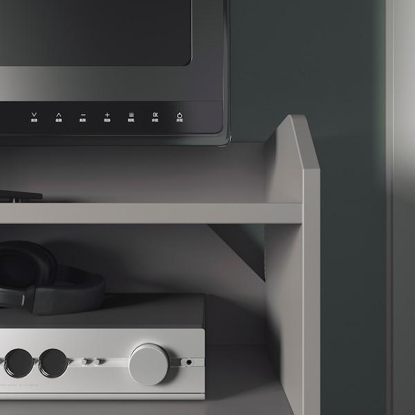 HAUGA Tv-bänk, grå, 138x36x54 cm