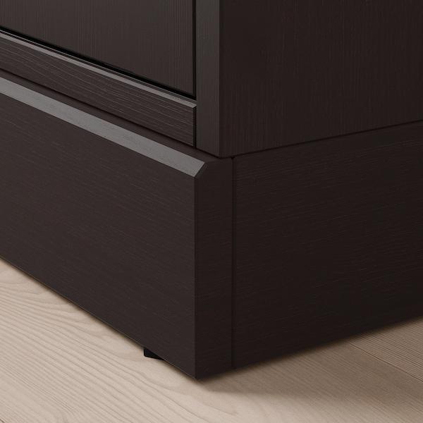 HAVSTA Förvaringskombination med glasdörr, mörkbrun, 162x37x134 cm