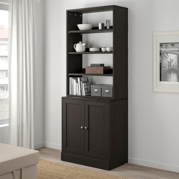 HAVSTA Förvaringskombination, mörkbrun, 81x47x212 cm