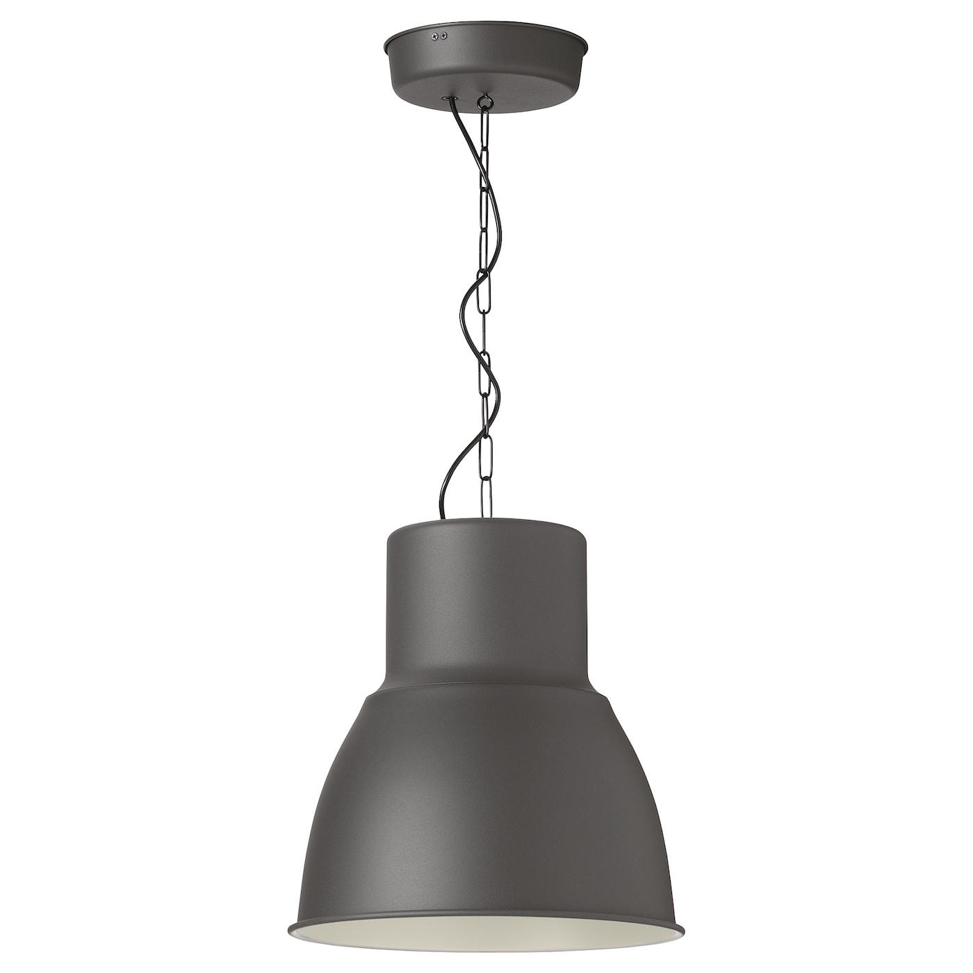 HEKTAR Taklampa mörkgrå 38 cm