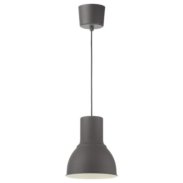 HEKTAR Taklampa, mörkgrå, 22 cm