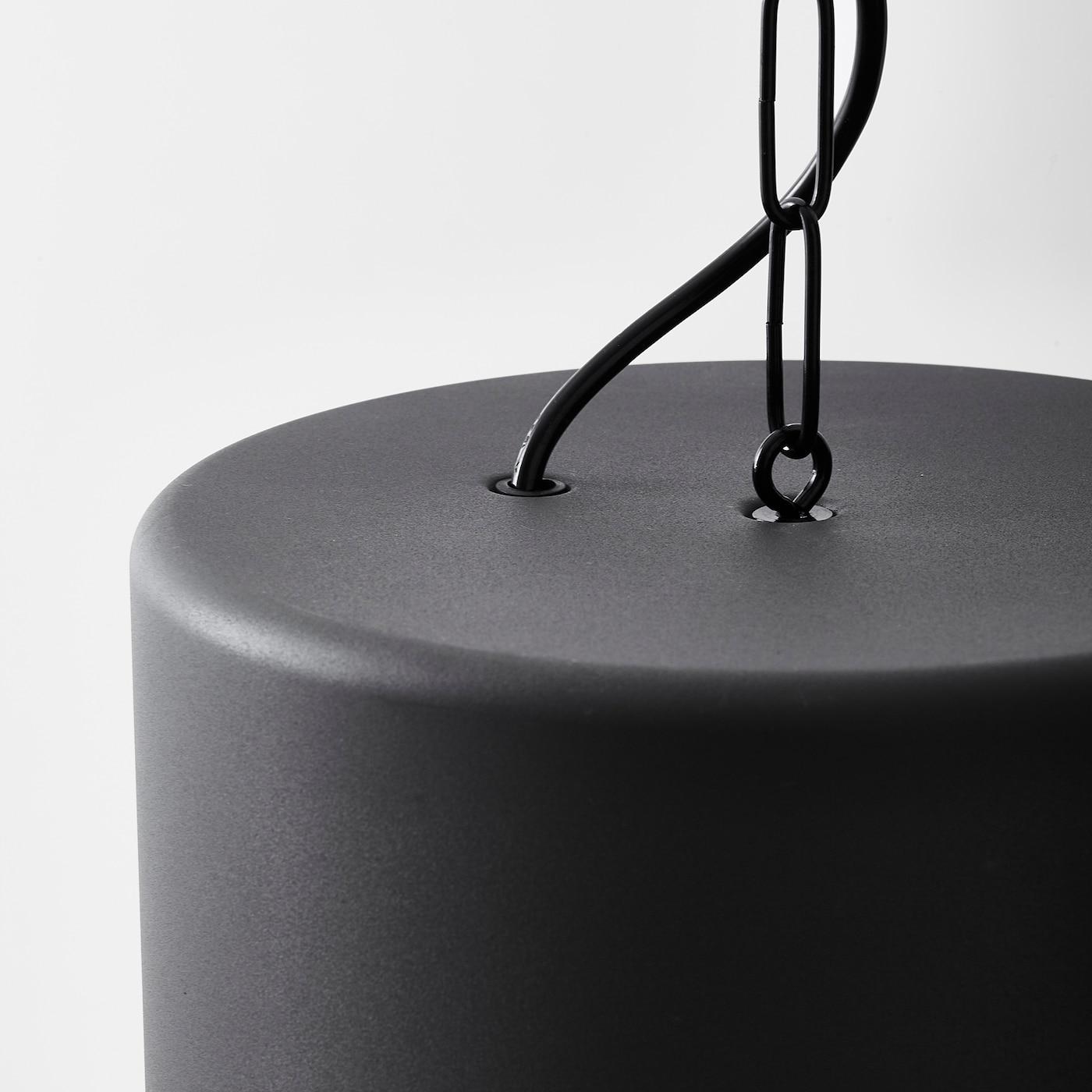 HEKTAR Taklampa mörkgrå 47 cm