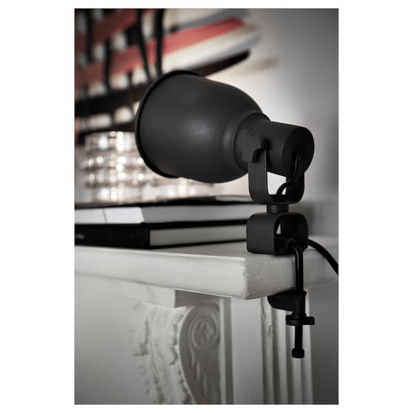 HEKTAR Vägg-/klämspot, mörkgrå