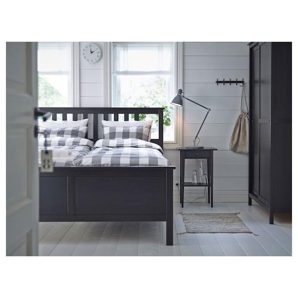 HEMNES avlastningsbord svartbrun 46 cm 35 cm 70 cm