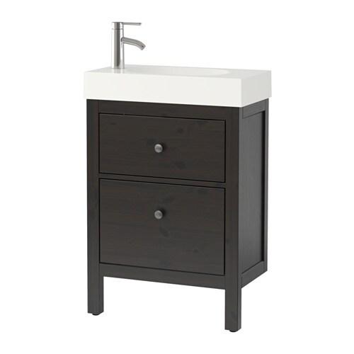 HEMNES BRåVIKEN Kommod med 2 lådor svartbrun IKEA