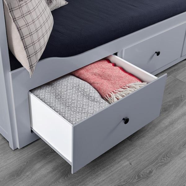 HEMNES Dagbäddstomme med 3 lådor, grå, 80x200 cm