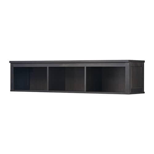 HEMNES Väggramphylla  svartbrun  IKEA