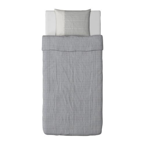 HENNY VÄV Påslakan 1 örngott IKEA Kammad bomull; ger mjuka sängkläder med extra slät och jämn väv.