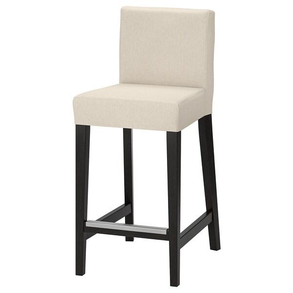 HENRIKSDAL Klädsel för barstol, Linneryd natur IKEA