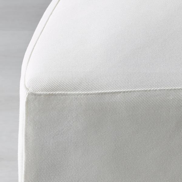 HENRIKSDAL Stol med lång klädsel, vit/Blekinge vit