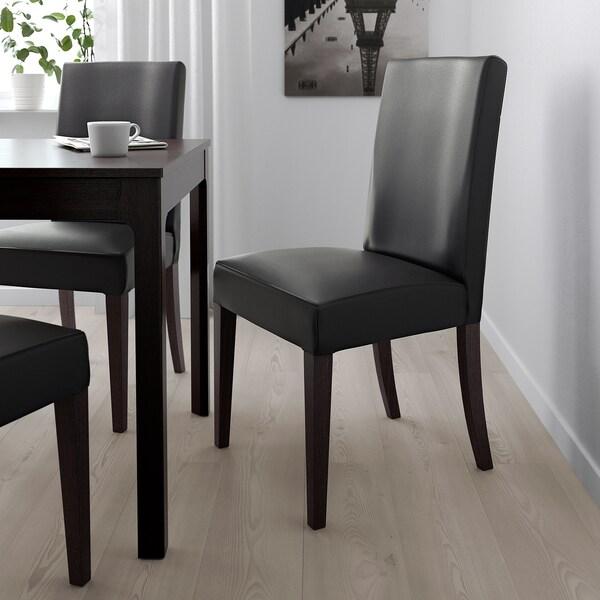 HENRIKSDAL Stol, mörkbrun, Glose svart IKEA