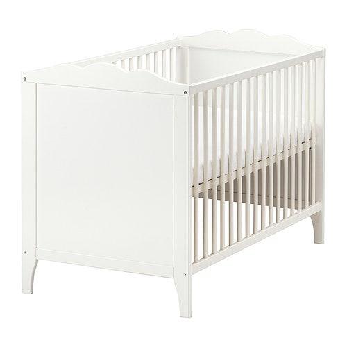 HENSVIK Spjälsäng IKEA Sängbottnen kan monteras i två olika höjdlägen.