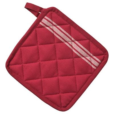 HILDEGUN Grytlapp, röd, 19x19 cm
