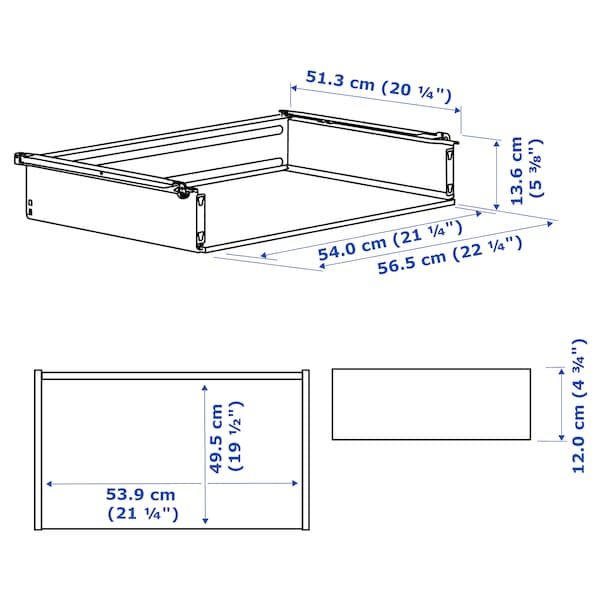 HJÄLPA Låda utan front, vit, 60x55 cm