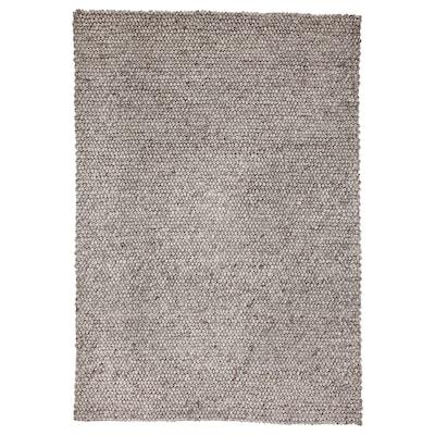 HJORTHEDE Matta, handgjord/ljusgrå, 160x230 cm