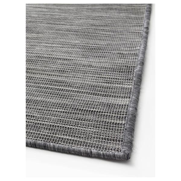 HODDE Matta slätvävd, inom-/utomhus, grå/svart, 200x300 cm