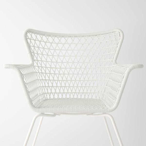 HÖGSTEN Karmstol, utomhus, vit