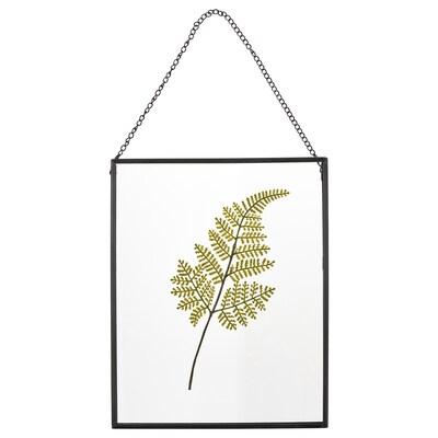 HÖSTKVÄLL Ram, mörkgrå/ormbunke grön, 21x26 cm