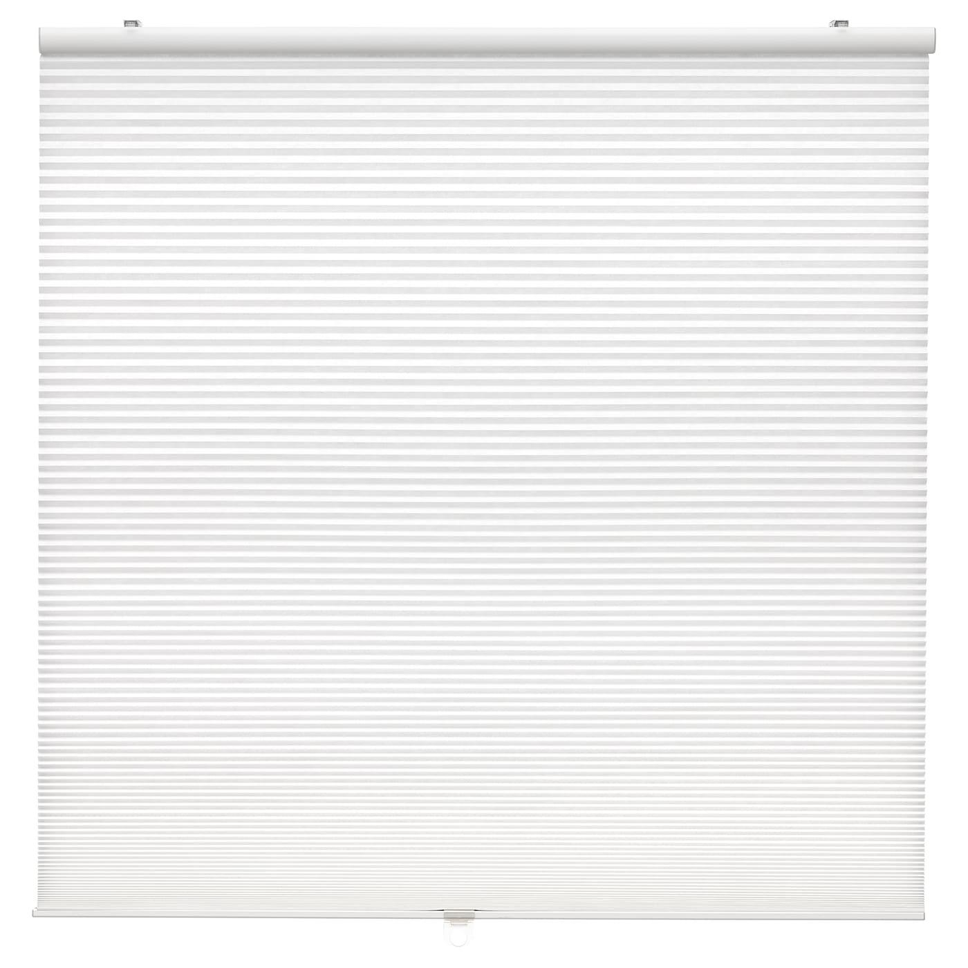 HOPPVALS Plisségardin, dubbel, vit, 80x155 cm IKEA