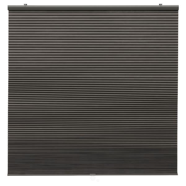 HOPPVALS Rumsförmörkande plisségardin, grå, 120x155 cm