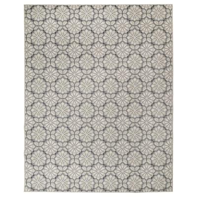 HUNDSLUND Matta slätvävd, inom-/utomhus, grå/beige, 200x250 cm