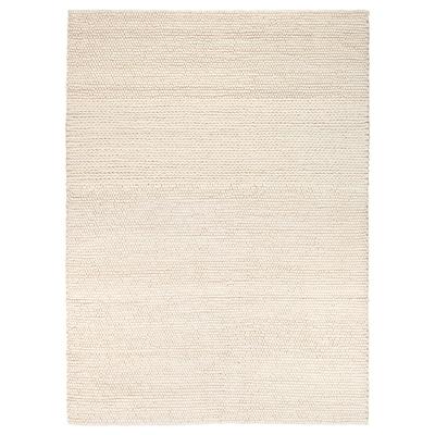IBSKER Matta, handgjord off-white, 170x240 cm