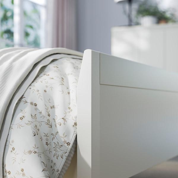 IDANÄS Sängstomme, vit/Lönset, 160x200 cm