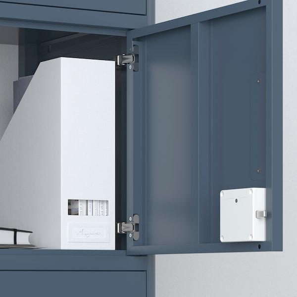 IDÅSEN Högskåp med smart lock, blå, 45x172 cm