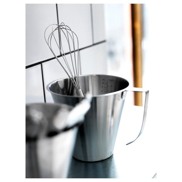 IDEALISK Bringare, måttgraderad/rostfritt stål, 1 l
