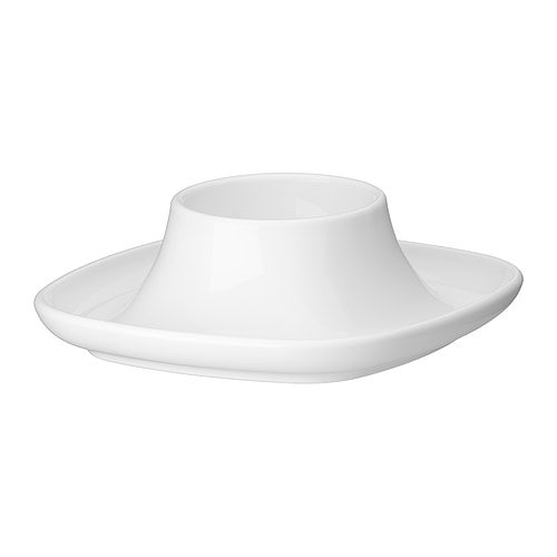IKEA 365+ Äggkopp , vit Längd: 10 cm Höjd: 3 cm