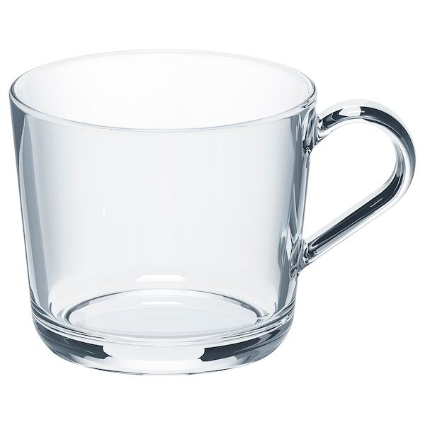 IKEA 365+ mugg klarglas 9 cm 36 cl