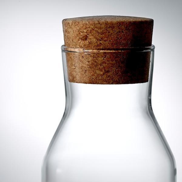 IKEA 365+ Karaff med kork, klarglas/kork, 1 l