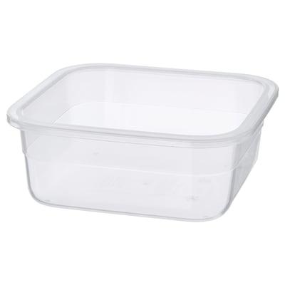 IKEA 365+ Matlåda, fyrkantigt/plast, 750 ml