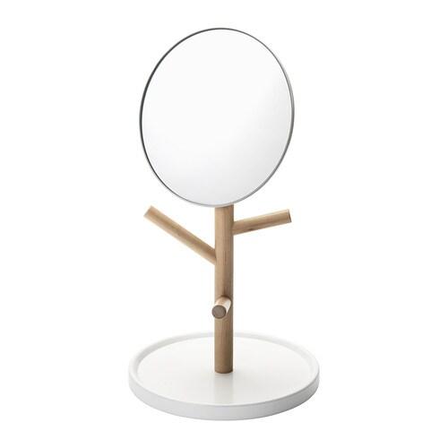 IKEA PS 2014 Bordsspegel , vit, björk Diameter: 25 cm Höjd: 48 cm