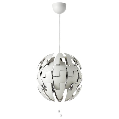 IKEA PS 2014 Taklampa, vit/silverfärgad, 35 cm