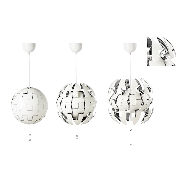 IKEA PS 2014 Taklampa, vit, silverfärgad, 35 cm IKEA