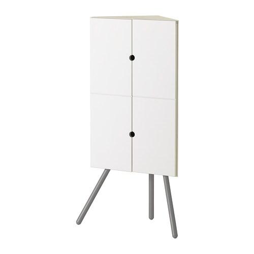 IKEA PS 2014 Hörnskåp vit grå IKEA