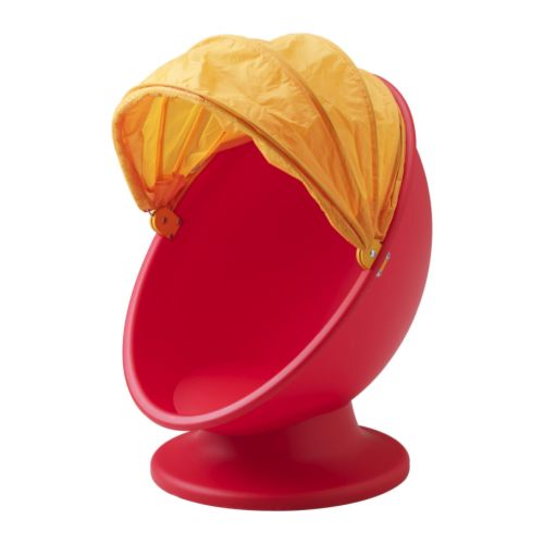 IKEA PS LÖMSK Snurrfåtölj IKEA Då suffletten är nerfälld blir stolen ett gömställe för barnet. Att snurra hjälper hjärnan att sortera sinnesintrycken.