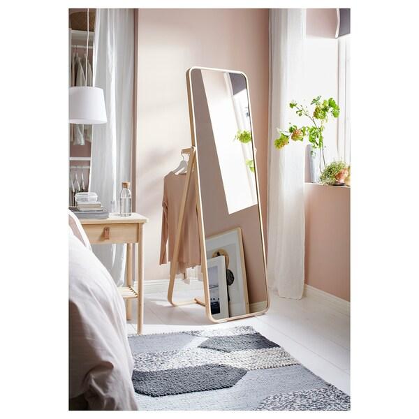 IKORNNES Golvspegel, ask, 52x167 cm