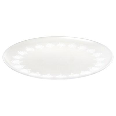 INBJUDEN Assiett, frostat glas, 21 cm