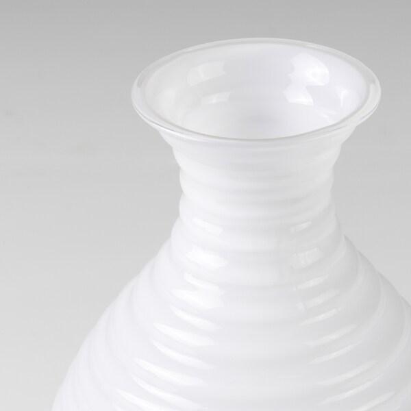 INBJUDEN Vas, glas vit, 13 cm