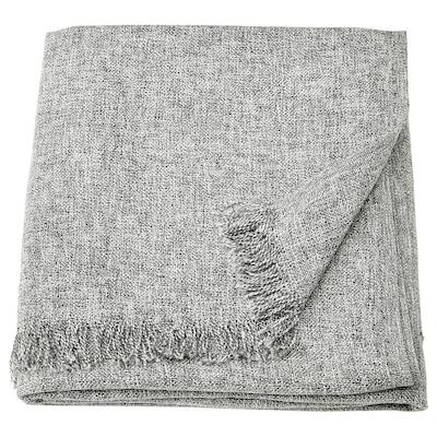 INGRUN Pläd, grå, 130x170 cm