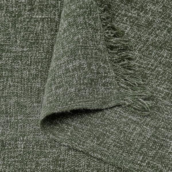 INGRUN Pläd, mörkgrön, 130x170 cm